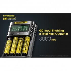 Nitecore Intelligent USB Charger Baterai 4 Slot Li-ion NiMH - UM4 - Black - 9