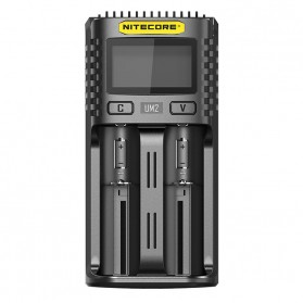 Nitecore Intelligent QC2 USB Charger Baterai 2 Slot Li-ion NiMH - UM2 - Black