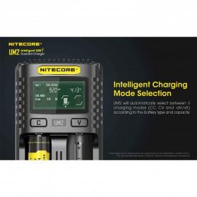 Nitecore Intelligent QC2 USB Charger Baterai 2 Slot Li-ion NiMH - UM2 - Black - 3