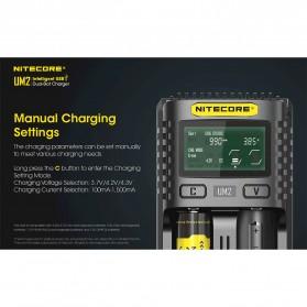 Nitecore Intelligent QC2 USB Charger Baterai 2 Slot Li-ion NiMH - UM2 - Black - 4