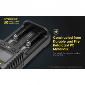 Nitecore Intelligent QC2 USB Charger Baterai 2 Slot Li-ion NiMH - UM2 - Black - 5