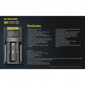 Nitecore Intelligent QC2 USB Charger Baterai 2 Slot Li-ion NiMH - UM2 - Black - 6
