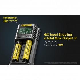 Nitecore Intelligent QC2 USB Charger Baterai 2 Slot Li-ion NiMH - UM2 - Black - 8
