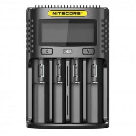 Nitecore Intelligent QC2 USB Charger Baterai 4 Slot 3A Li-ion NiMH - UMS4 - Black
