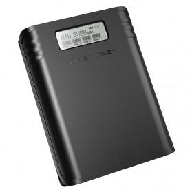 NITECORE Flexible Charger Baterai 4 Slot with Power Bank - F4 - Black - 1