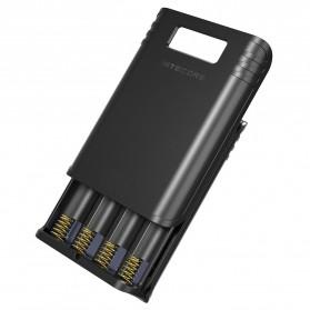 NITECORE Flexible Charger Baterai 4 Slot with Power Bank - F4 - Black - 2
