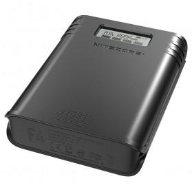 NITECORE Flexible Charger Baterai 4 Slot with Power Bank - F4 - Black - 3