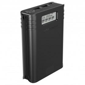 NITECORE Flexible Charger Baterai 4 Slot with Power Bank - F4 - Black - 4