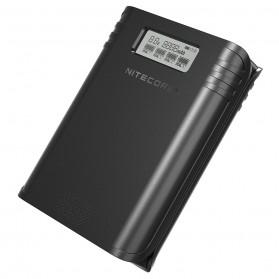 NITECORE Flexible Charger Baterai 4 Slot with Power Bank - F4 - Black - 5