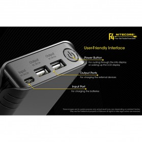 NITECORE Flexible Charger Baterai 4 Slot with Power Bank - F4 - Black - 6