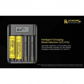 NITECORE Flexible Charger Baterai 4 Slot with Power Bank - F4 - Black - 7