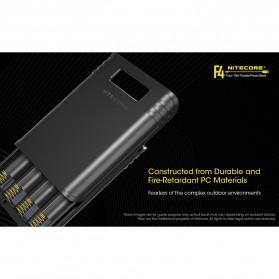 NITECORE Flexible Charger Baterai 4 Slot with Power Bank - F4 - Black - 9
