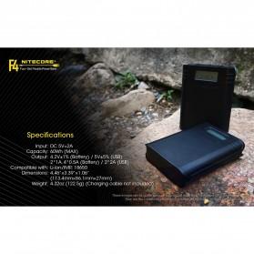 NITECORE Flexible Charger Baterai 4 Slot with Power Bank - F4 - Black - 10
