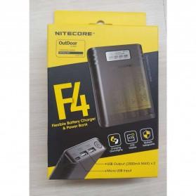 NITECORE Flexible Charger Baterai 4 Slot with Power Bank - F4 - Black - 11