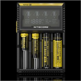 Nitecore Digicharger Universal Battery Charger 4 Slot for Li-ion and NiMH - D4EU - Black - 2