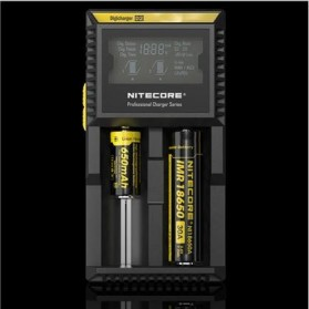 Nitecore Digicharger Universal Battery Charger 2 Slot for Li-ion and NiMH - D2EU - Black - 2