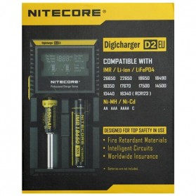 Nitecore Digicharger Universal Battery Charger 2 Slot for Li-ion and NiMH - D2EU - Black - 5