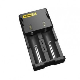 Nitecore Intellicharger Universal Battery Charger 2 Slot for Li-ion and NiMH - i2 - Black
