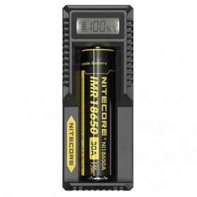NITECORE Universal Battery Charger 1 Slot for Li-ion with LCD - UM10 - Black - 2