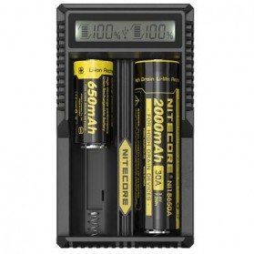 NITECORE Universal Battery Charger Dual Slot for Li-ion with High Definition LCD - UM20 - Black - 2
