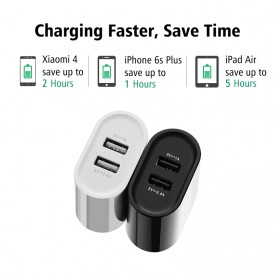 UGreen Dual USB Charger Fast Charging 3.4A EU Plug - CD104 - Black - 3