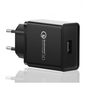 UGREEN Charger USB Qualcomm Quick Charge 3.0 1 Port 18W - CD122 - Black
