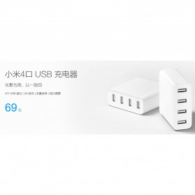 Xiaomi Charger USB 4 Port 2A - White - 7