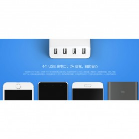 Xiaomi Charger USB 4 Port 2A - White - 8