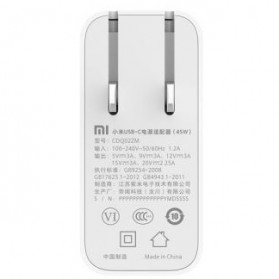 Charger Adaptor USB Type-C Xiaomi Notebook Air 45W - CDQ02ZM - White - 5