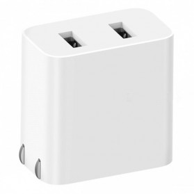 Xiaomi Charger USB 2 Port Qualcomm QC 3.0 Version 36W - AD07ZM - White