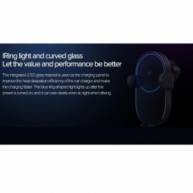 Xiaomi Millet Car Holder Qi Wireless Charger Fast Charging 20W - WCJ02ZM - Black - 6