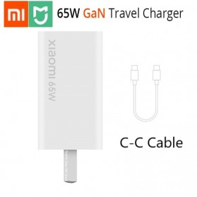 Xiaomi GaN Small Travel Charger USB Type C PD Quick Charge 65W - AD65G - White
