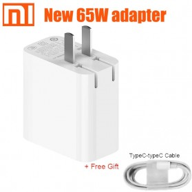 Charger Adaptor USB Type-C Xiaomi Notebook Air 65W - AD651P - White