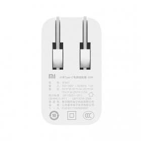 Charger Adaptor USB Type-C Xiaomi Notebook Air 65W - AD651P - White - 5