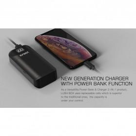 Efest Lush Box Charger Baterai Intelligent 2 Slot - Black - 9