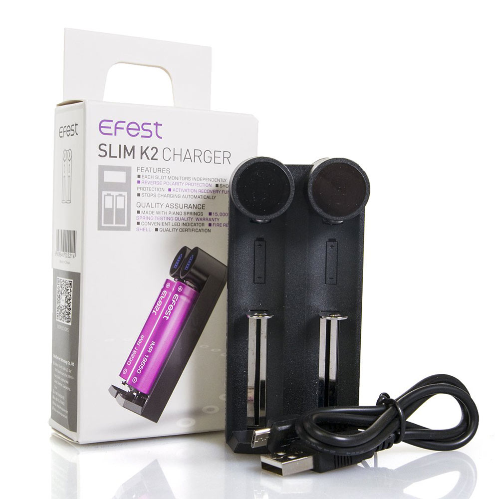 ... Efest Slim K2 Charger Baterai Inteligent 2 Slot for 18650 / 26650 / 20700 / 18500 ...