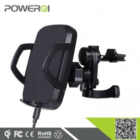 Powerqi C3E Wireless Car Charger with Air Vent and Suction Holder - Black