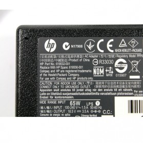 Adaptor HP 18.5v 3.5A PIN Standard - 619556-001 618532-001 - Black - 4
