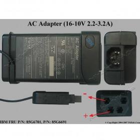 Adaptor IBM Lenovo 16-10V / 2.2-3.2A - Black