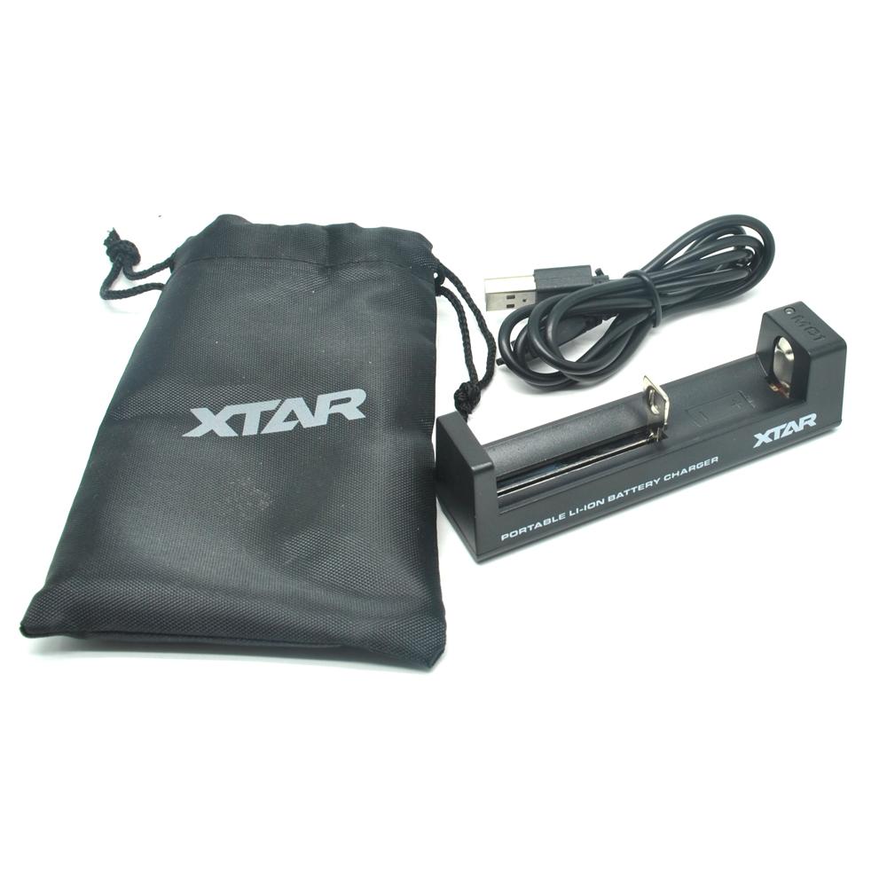 Xtar Mc1 Portable Micro Usb Battery Charger 1 Slot For Li Ion Box Kotak Tempat Baterai 18650 2 Black