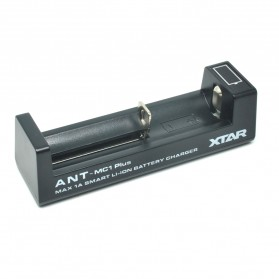 Xtar ANT-MC1 Plus Portable Micro USB Battery Charger 1 Slot for Li-ion - Black
