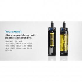 Xtar ANT-MC1 Plus Portable Micro USB Battery Charger 1 Slot for Li-ion - Black - 5