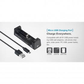 Xtar ANT-MC1 Plus Portable Micro USB Battery Charger 1 Slot for Li-ion - Black - 6