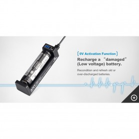 Xtar ANT-MC1 Plus Portable Micro USB Battery Charger 1 Slot for Li-ion - Black - 7