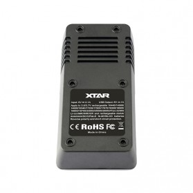 Xtar VC2 Premium Micro USB Battery Charger 2 Slot for Li-ion with LCD Display - Black - 3