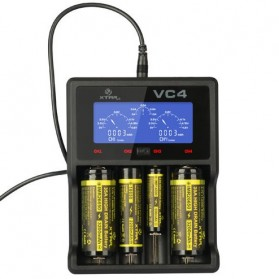 Xtar VC4 Premium Battery Charger 4 Slot for Li-ion and Ni-Mh with LCD Display - Black - 1