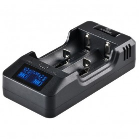 Xtar VP2 Intelligent Battery Charger 2 Slot for Li-ion with LCD Display - Black