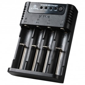 Xtar XP4 Intelligent Battery Charger 4 Slot for Li-ion and Ni-Mh with Battery Renew Function - Black