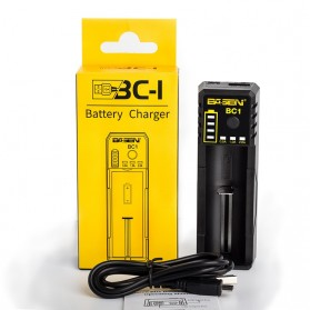 Xtar BC1 Portable Micro USB Battery Charger 1 Slot for Li-ion - Black