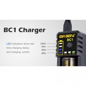 Xtar BC1 Portable Micro USB Battery Charger 1 Slot for Li-ion - Black - 5